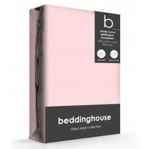 Beddinghouse Splittopper Hoeslaken Jersey Lichtroze