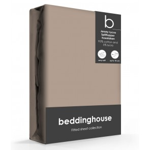 Beddinghouse Splittopper Hoeslaken Jersey Taupe