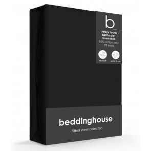 Beddinghouse Splittopper Hoeslaken Jersey Zwart