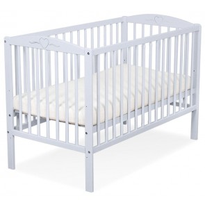 Baby Ledikant Grijs Hartje