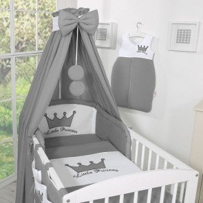 Bedset 3-Delig Little Prince/Princess Katoen Antraciet