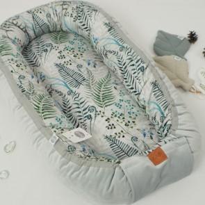 Betulli Babynestje Fluweel Ferns Grey