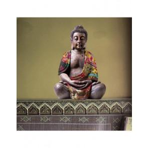Muursticker Buddha Reflective 70x50cm