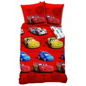 Disney Cars dekbedovertrek Flanel Sponsor Rouge