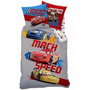 Disney Cars dekbedovertrek Mach Speed Grey