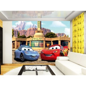 Cars McQueen & Sally Fotobehang (AG Design)