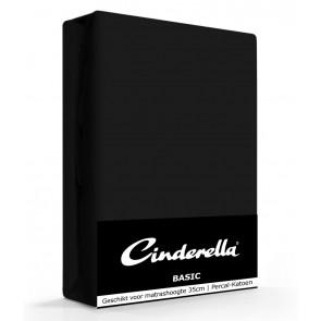 Cinderella Basic Hoeslaken Black Hoge Hoek - 40 cm