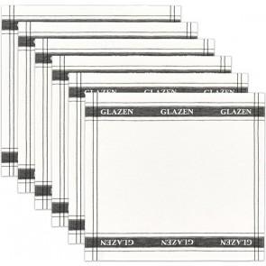 DDDDD Glazendoek / Poleerdoek Wit (6 stuks)