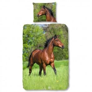 Good Morning Kids Dekbedovertrek Bruin Paard