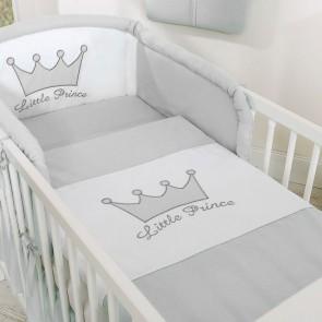 Dekbedovertrek Little Prince/Princess Grijs