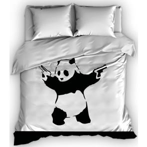 Satin d'Or dekbedovertrek Pistolen Panda
