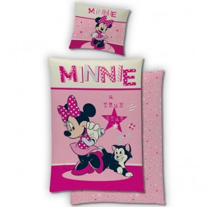 Flanellen Dekbedovertrek Minnie Mouse