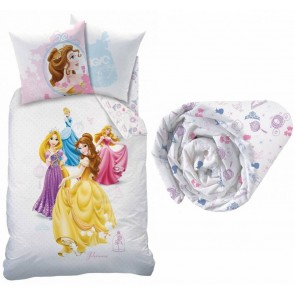 Set Dekbedovertrek + Hoeslaken Disney Princess Big Dream