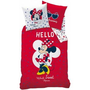 Disney Minnie Mouse dekbedovertrek Hello Rood