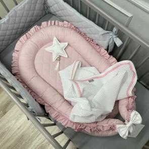 Dolly Babynestje Ruches Gestept Roze
