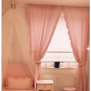 Dolly Gordijnen Set met Ruches Roze