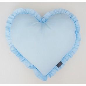 Dolly Kussen Hart Blauw 38x41cm