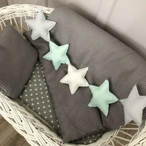 Dolly Slinger Stars Grijs, Mint, Wit
