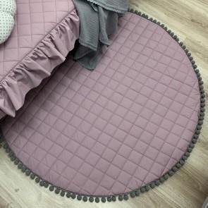 Dolly Speelkleed Pompoentjes Lavendel/Grijs