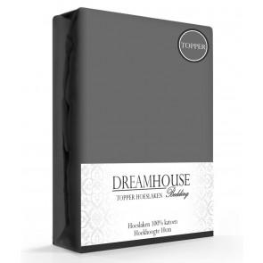 Dreamhouse Topper Hoeslaken Katoen Antraciet
