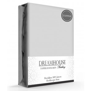 Dreamhouse Topper Hoeslaken Katoen Grijs