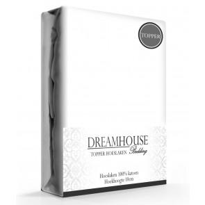 Dreamhouse Topper Hoeslaken Katoen Wit