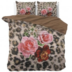 Dreamhouse Dekbedovertrek Floral Panther Brown