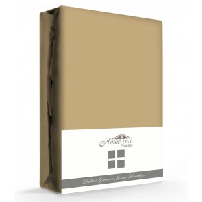 Dubbel Geweven Hoeslaken Taupe Home Care