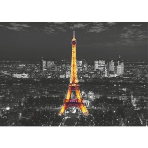 Eiffel In The Night Fotobehang 4D (AG Design)