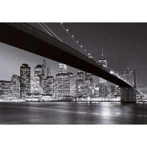 Fotobehang Brooklyn Bridge New York (366 x 254 cm)