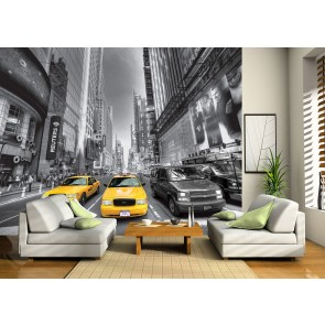Yellow Cab Fotobehang 4D (AG Design)
