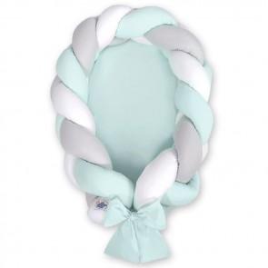 My Sweet Baby Babynestje 2-in-1 Mint-Wit-Grijs