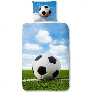 Good Morning Flanel Dekbedovertrek Voetbal