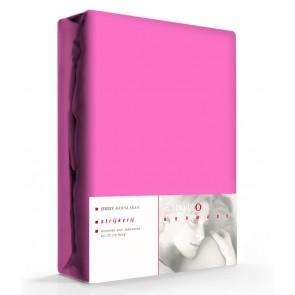 Hoeslaken Katoen Strijkvrij Donker Roze
