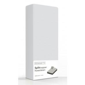 Split-Topper Hoeslaken Romanette Zilver