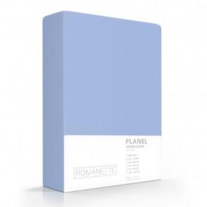 Flanellen Hoeslaken Blauw Romanette
