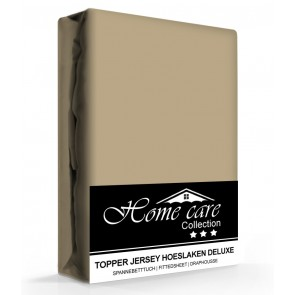 Homecare Jersey Topper Hoeslaken Taupe