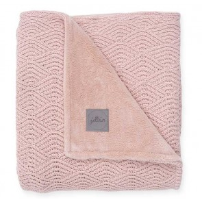 Jollein Deken 75x100cm River Knit Pale Pink/Coral Fleece