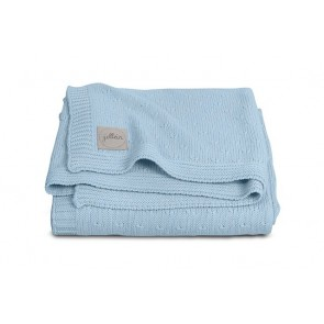 Jollein Deken Soft Knit 100x150cm Soft Blue