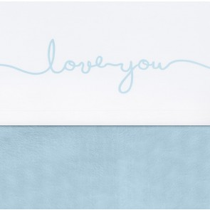 Jollein Laken 120x150cm Love You Soft Blue