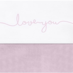 Jollein Laken 75x100cm Love You Vintage Pink