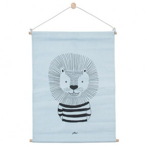 Jollein Poster Canvas 42x60cm Wild Animals Soft blue