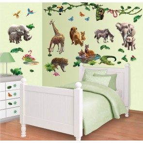 Jungle Adventure Muurstickers (Walltastic)