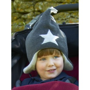 Buggy Snuggle Kindermuts Charcoal - Silver Star M