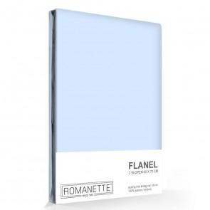 Flanellen Kussenslopen Lichtblauw (2 stuks)
