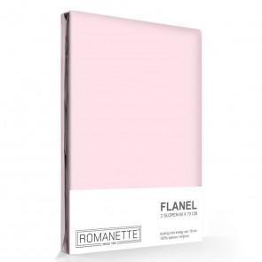 Flanellen Kussenslopen Roze (2 stuks)