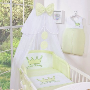 3-Delig Bedset Little Princess Voile Groen