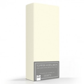 Romanette Hoeslaken Topper Double Jersey Ivoor