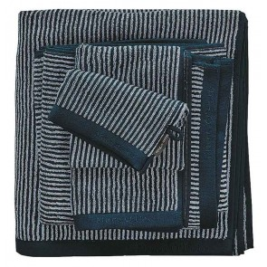 Marc O'Polo badgoed Timeless Tone Stripe Navy & Silver