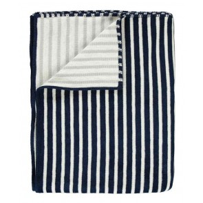 Marc O'Polo Fleece Plaid Veln Navy 150 x 200 cm